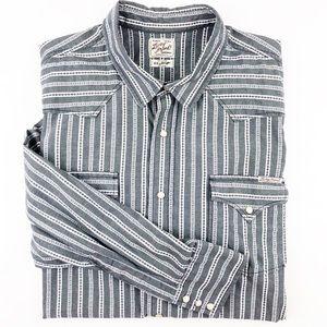 Lucky Brand Western Long Sleeve Button Down XXL